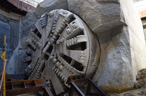 Tunnel Boring Machines breakthrough at Airport Central Station